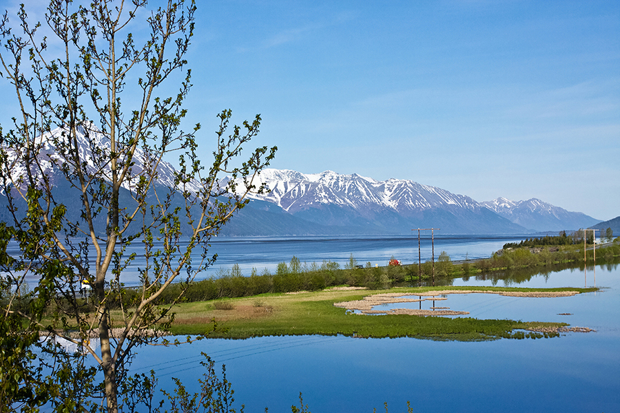 Alaska's Seward Highway winds through the mountains and waters of Turnagain Arm