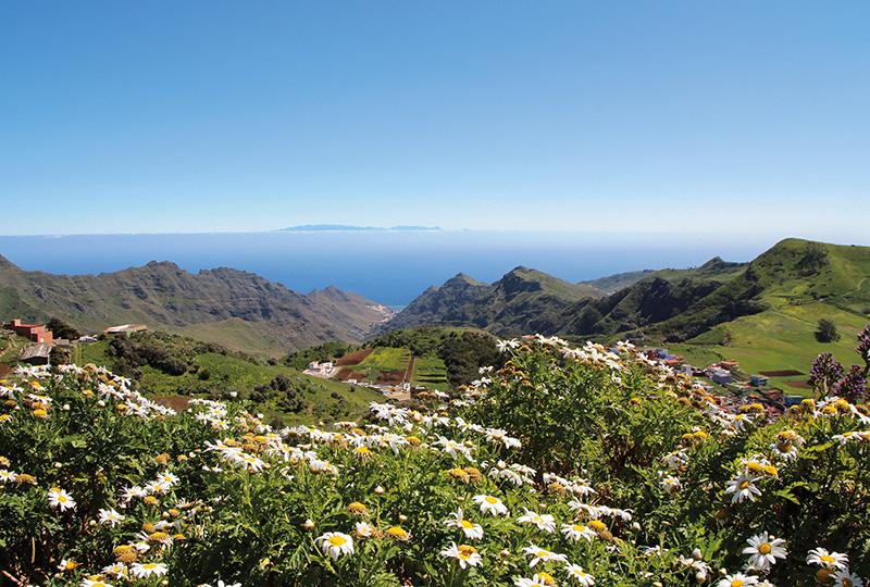 Aussicht bei einem Fotostopp am Mirador Jardina im Norden Teneriffas