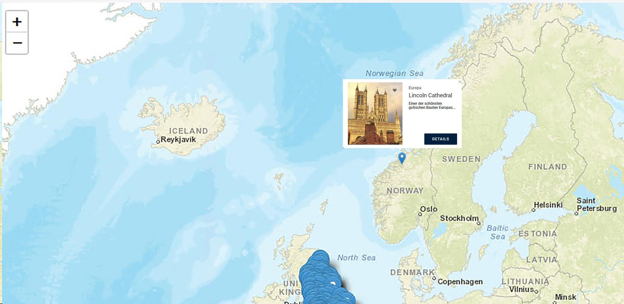 Beispiel_Skandinavienkarte mit Attraktion