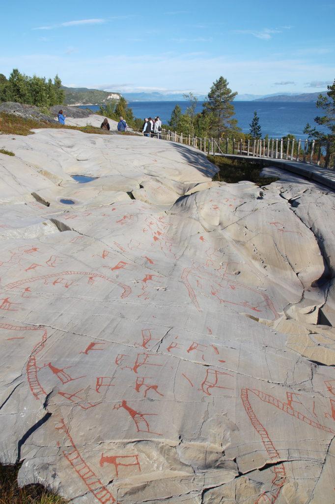 Besichtigung der Felszeichnungen in Alta in Nordnorwegen