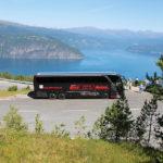 Blitz-Bus am Fjord