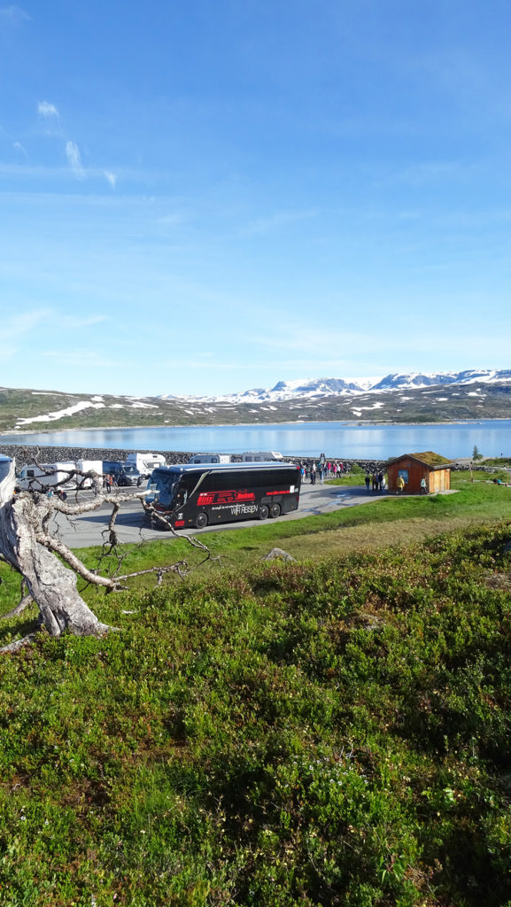 Fotostopp am Sysendamm auf der Hardangervidda in Norwegen