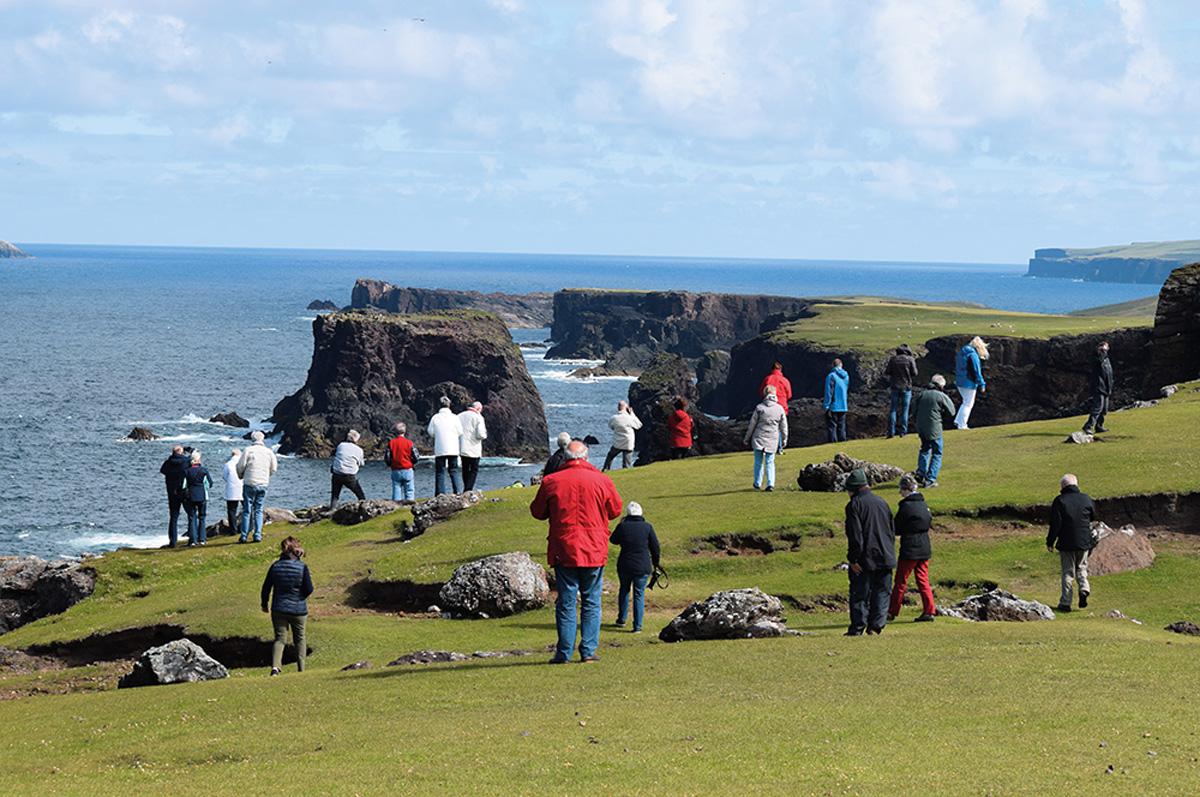Fotostopp an der Küste Schottlands