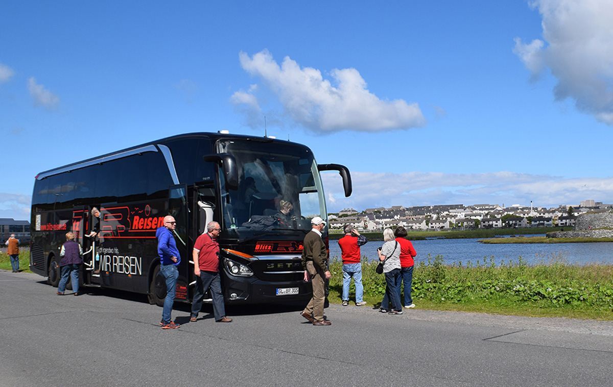 Fotostopp mit dem Blitz-Bus unterwegs in Schottland