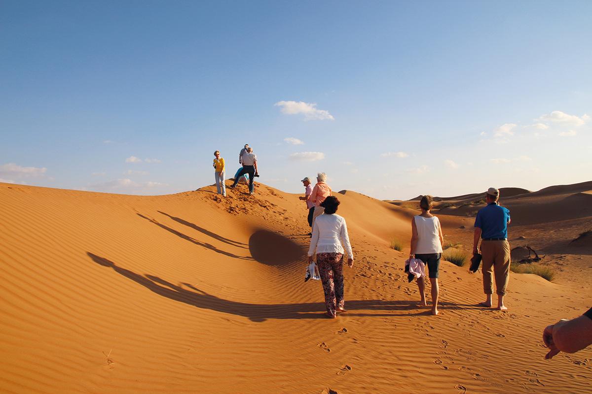 In der Wüste Wahiba-Sands im Oman