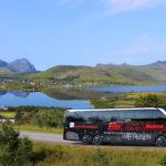 Blitz-Bus auf den Lofoten, Norwegen